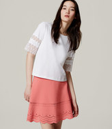 LOFT Tall Eyelet Scallop Skirt