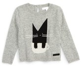 Burberry Infant Girl's 'Mini Cat' Cashmere Sweater