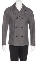 Michael Kors Wool-Blend Double-Breasted Peacoat