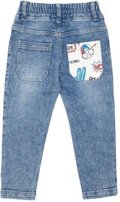 Little Marc Jacobs Stretch Cotton Denim Effect Pants