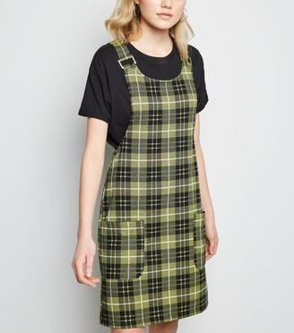New Look Tall Check Pinafore Dress