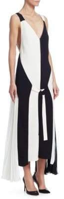 TRE by Natalie Ratabesi TRE by Natalie Ratabesi Women's Wallace Colorblocked Zipper Gown - Black/White - Size 8