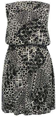 M&Co Plus printed dress