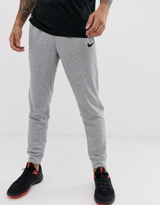 Nike Training Dri-Fit tapered joggers in grey