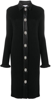 Bottega Veneta Ribbed Knit Fitted Dress