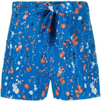 Equipment Taimee floral-print shorts