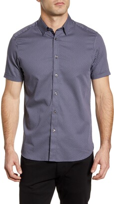 Ted Baker Norjas Slim Fit Short Sleeve Button-Up Shirt
