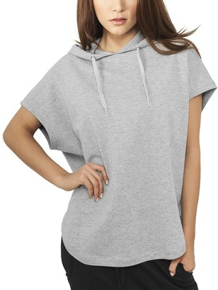 Urban Classics Women's Ladies Sleeveless Terry Hoody Sweatshirt