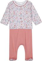 Petit Bateau Floral-print cardigan and baby-grow set newborn-12 months