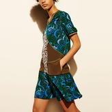 Coach Deco Palm Silk T-Shirt Dress