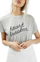 Topshop by Tee & Cake Heartbreaker Split Back Tee
