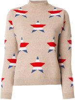MAISON KITSUNÉ star intarsia jumper - women - Cashmere/Merino - M
