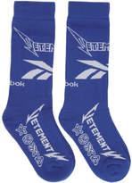 Vetements Blue Reebok Edition Metal Socks