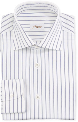 Brioni Men's Striped Cotton Dress Shirt