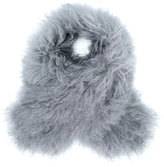 Fabiana Filippi fluffy neck scarf - women - Cotton/Polyester/Acetate/Lamb Fur - One Size