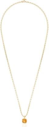 Anais Rheiner 18K gold and orange citrine pendant necklace