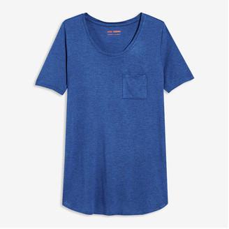 Joe Fresh Women's Pocket Tee, Blue Mix (Size XL)