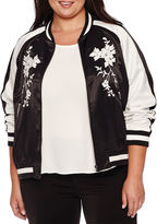 BELLE + SKY Embroidered Bomber Jacket