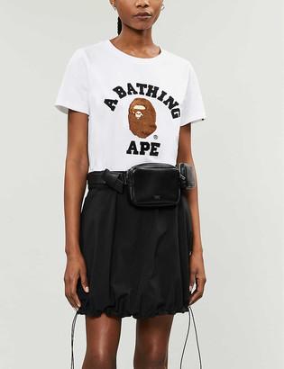 BAPE College logo-applique cotton-jersey T-shirt