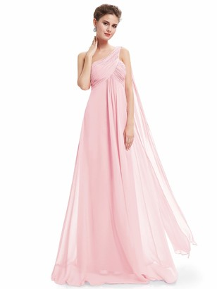 Ever Pretty Ever-Pretty Women's Elegant Empire Waist A Line Sleeveless Long Maxi Wedding Party Dresses Pink 8UK