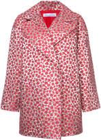 Oscar de la Renta metallic floral drop shoulder coat