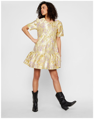 Y.A.S Japana Jacquard Dress Yellow