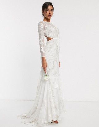 Asos Edition EDITION embroidered & embellished fishtail wedding dress