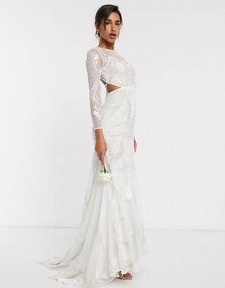 ASOS EDITION embroidered & embellished fishtail wedding dress