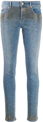 Versace Jeans Couture Embellished Skinny Jeans