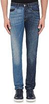Lanvin Men's Paneled Skinny Jeans-BLUE
