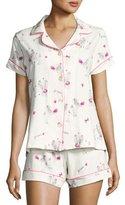BedHead Short-Sleeve Print Shortie Pajama Set, Fifi
