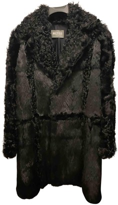 Meteo Black Shearling Coat for Women