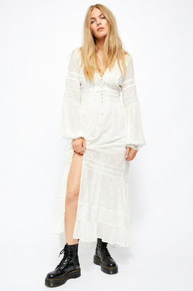 Free People Lisa Lace Maxi Dress