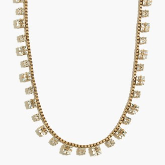 J.Crew Deco square crystal statement necklace
