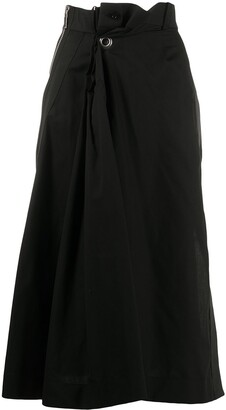 Sacai Gathered Wrap Skirt
