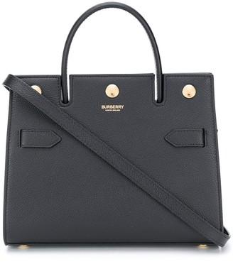 Burberry mini calf leather Title bag