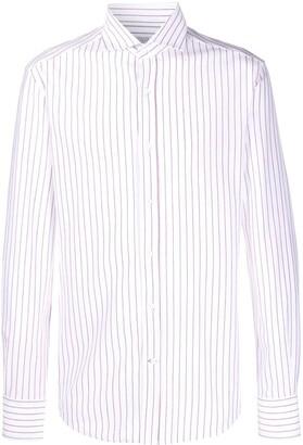 Brunello Cucinelli Long Sleeved Striped Shirt