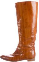 Sergio Rossi Eelskin Knee-High Boots