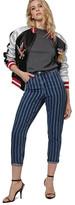 Topshop Laser Stripe Crop Jeans (Petite)