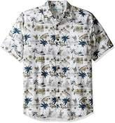 Margaritaville Men's Short Sleeve North Shore Print Shirt
