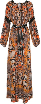Amanda Wakeley moth-print silk dress