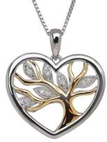 Lord & Taylor Diamond, Sterling Silver and 14K Yellow Gold Tree Pendant Necklace