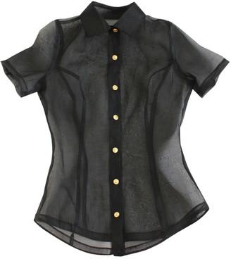Versus Black Silk Top for Women Vintage