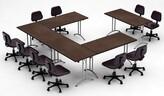 Meeting Seminar 5 Piece Rectangular Conference Table Set Team Tables Top Finish: Java