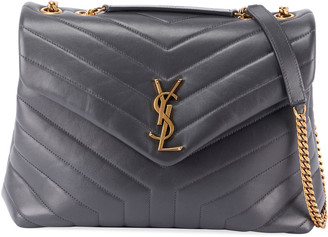 Saint Laurent Loulou Medium Calf Flap-Top Shoulder Bag