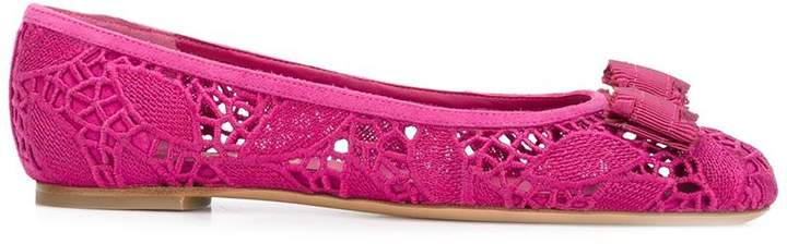 Salvatore Ferragamo Vara lace ballerina shoes
