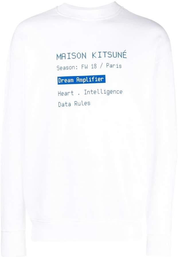MAISON KITSUNÉ script printed sweatshirt