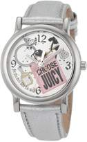 Juicy Couture Women's 1900810 Happy Silver Metallic Leather Strap Watch