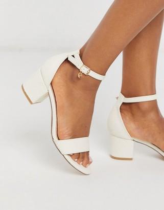 Miss KG percy mid block heel sandals in bone