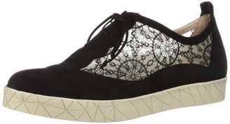BeautiFeel Women's Rosalie Sneaker Black Suede French lace mesh 370 Medium EU (6 US)